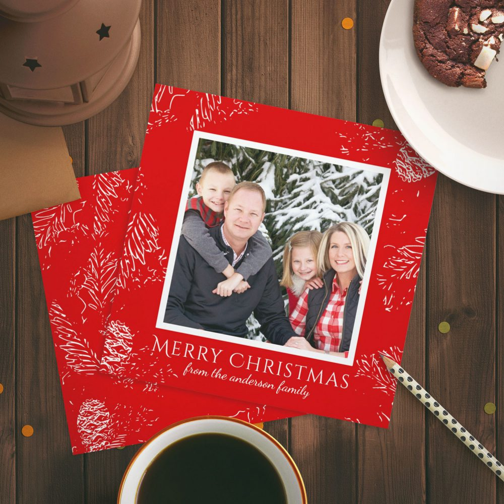 Easy To Customize Christmas Card Photo Templates Antique Images