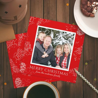 Easy to Customize Christmas Card Photo Templates