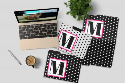 Custom Monogram File Folders – For New Job or Back to School!