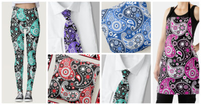 Big Colorful Paisley Prints – Country Western Boho Chic